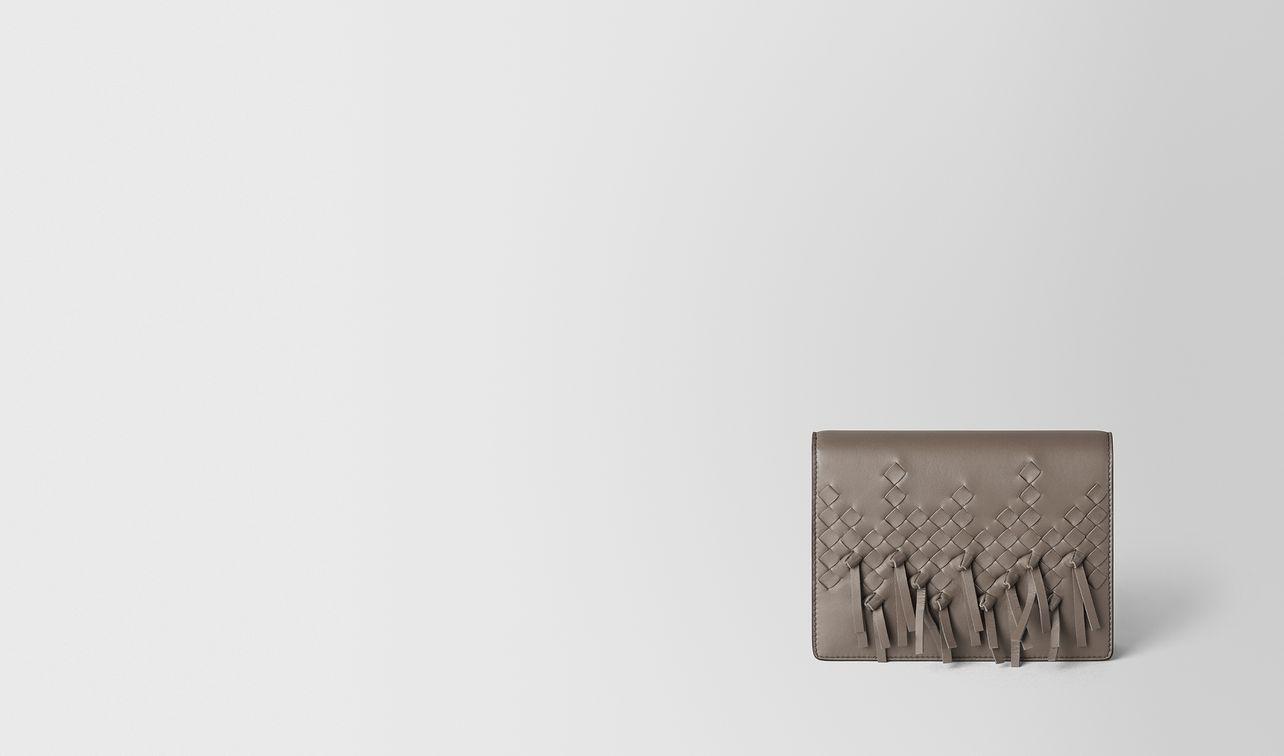 steel intrecciato brio chain wallet landing