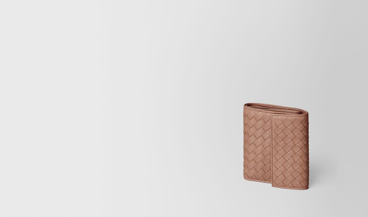 portefeuille mini format en cuir nappa intrecciato dahlia landing