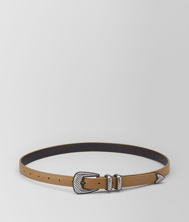 BOTTEGA VENETA CAMEL CALF BELT Belt [*** pickupInStoreShippingNotGuaranteed_info ***] fp