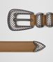 BOTTEGA VENETA CAMEL CALF BELT Belt Man rp