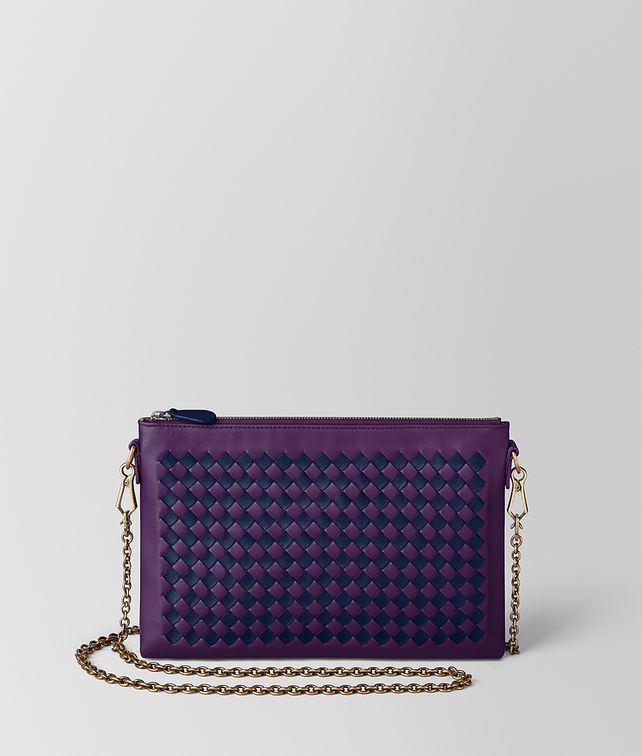 BOTTEGA VENETA MONALISA/ATLANTIC INTRECCIATO CHECKER BILETTO CHAIN CHAIN WALLET Woman fp