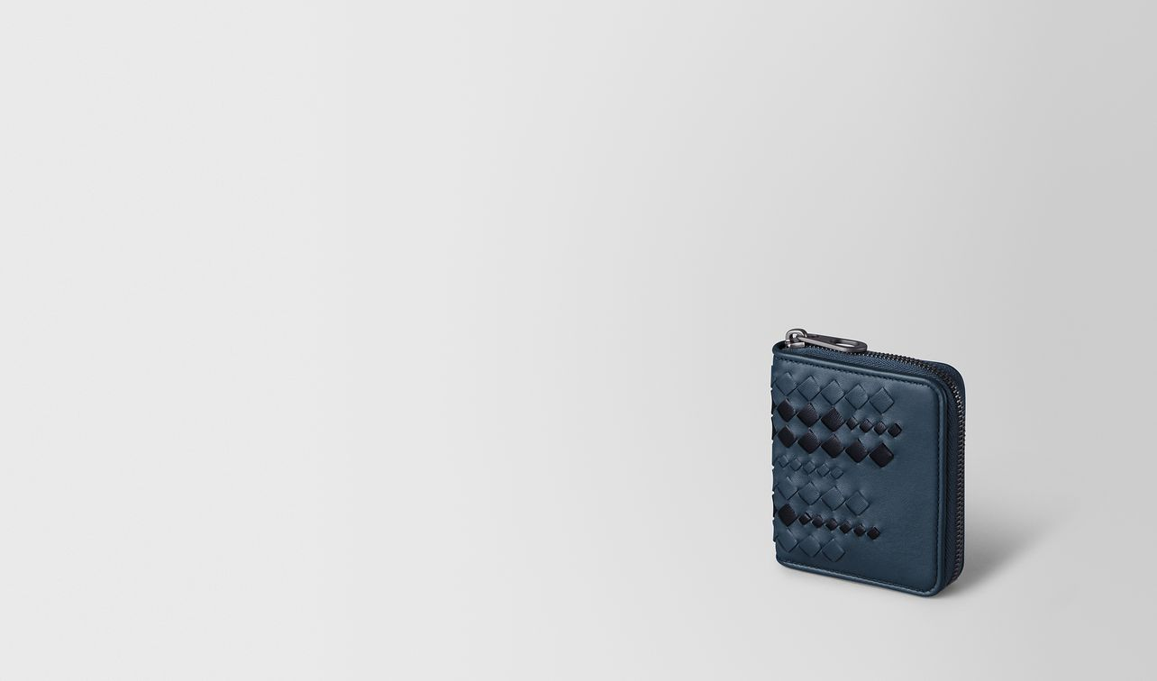 portemonnaie mit zip aus nappa in denim tourmaline landing