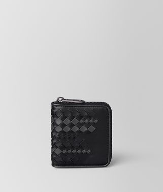 NERO/ARDOISE NAPPA ZIP AROUND WALLET