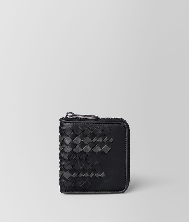 BOTTEGA VENETA NERO/ARDOISE NAPPA ZIP AROUND WALLET Zip Around Wallet Man fp