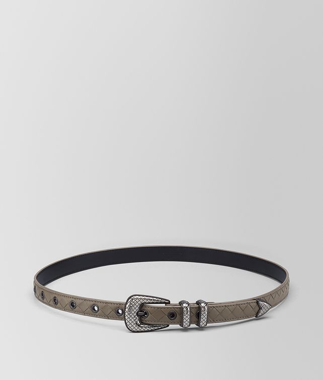BOTTEGA VENETA STEEL INTRECCIATO NAPPA BELT Belt Man fp