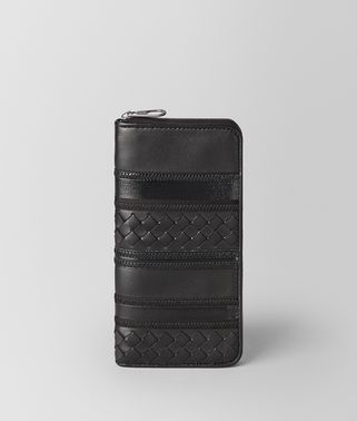 NERO NAPPA ZIP AROUND WALLET