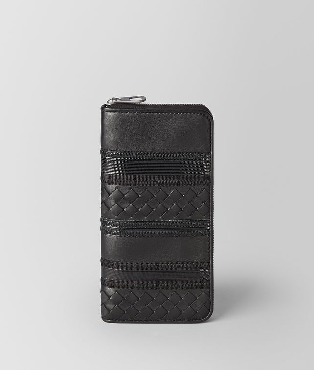 BOTTEGA VENETA NERO NAPPA ZIP AROUND WALLET Zip Around Wallet Man fp