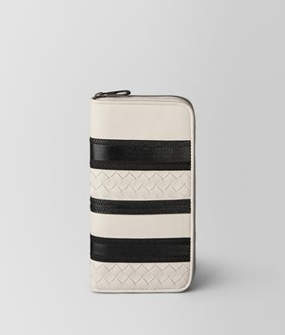 MIST/NERO NAPPA ZIP AROUND WALLET
