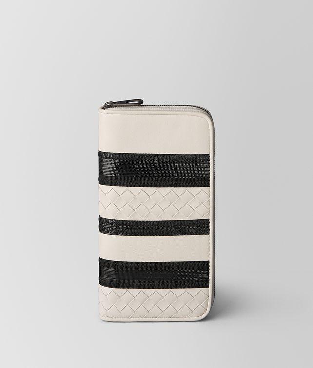 BOTTEGA VENETA MIST/NERO NAPPA ZIP AROUND WALLET Zip Around Wallet Man fp