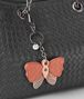 peach rose ayers/hibiscus intrecciato nappa charm Front Detail Portrait