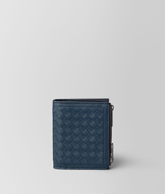 BOTTEGA VENETA DENIM INTRECCIATO CALF WALLET Small Wallet [*** pickupInStoreShippingNotGuaranteed_info ***] fp
