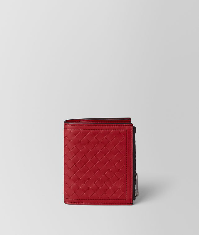BOTTEGA VENETA CHINA RED INTRECCIATO CALF WALLET Bi-fold Wallet [*** pickupInStoreShippingNotGuaranteed_info ***] fp