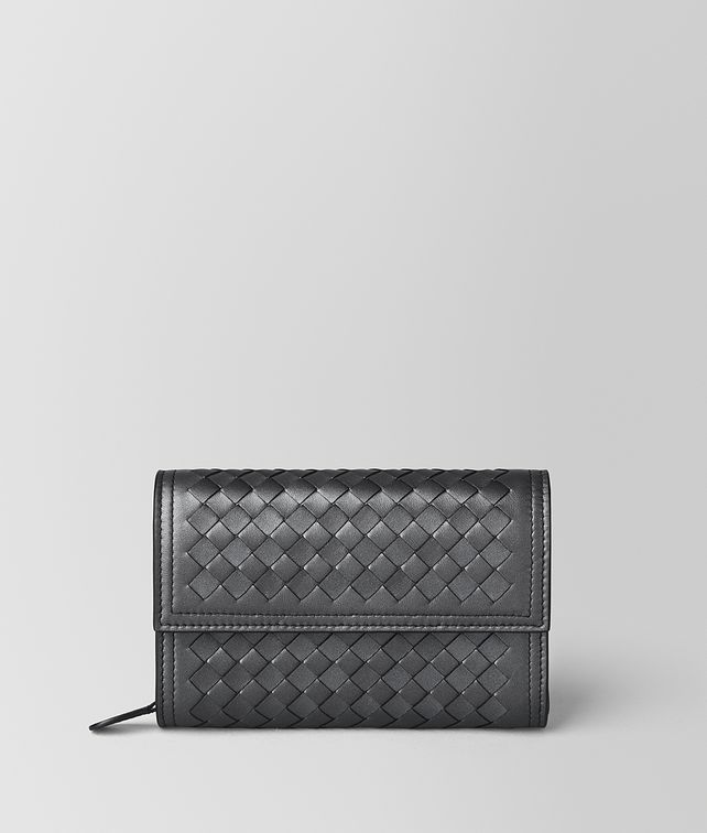 BOTTEGA VENETA ANTIQUE SILVER INTRECCIATO NAPPA WALLET Continental Wallet [*** pickupInStoreShipping_info ***] fp