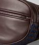 dark barolo/atlantic calf intrecciato checker belt bag Back Detail Portrait
