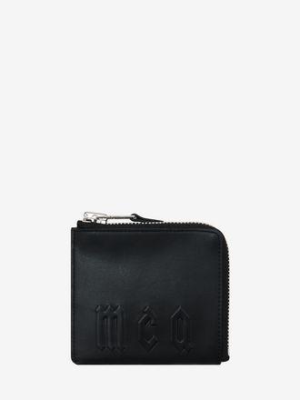 McQ Embossed Zip Wallet