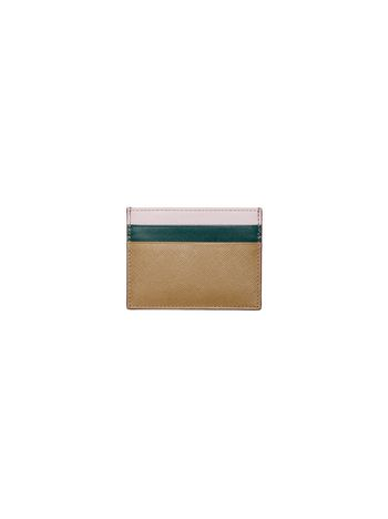 Marni Credit card case in saffiano leather Woman
