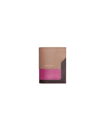 Marni Bi-fold saffiano calfskin wallet Woman