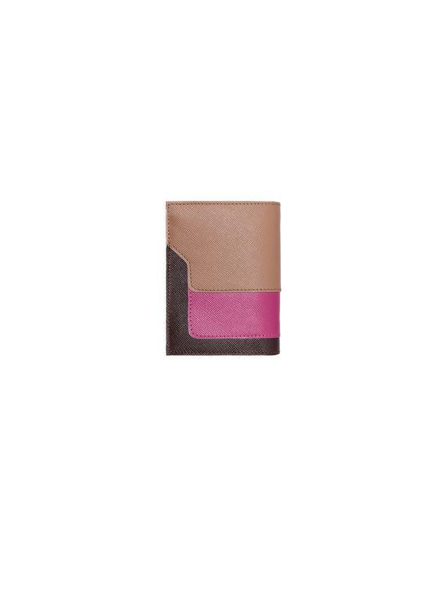 Marni Bi-fold wallet in Saffiano calfskin Woman