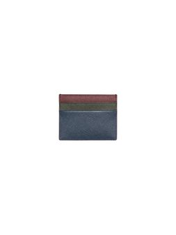 Marni Credit card holder in blue, green and burgundy Saffiano calfskin Man