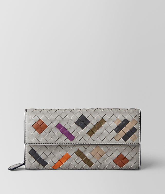 BOTTEGA VENETA CEMENT INTRECCIATO ABSTRACT CONTINENTAL WALLET Continental Wallet [*** pickupInStoreShipping_info ***] fp