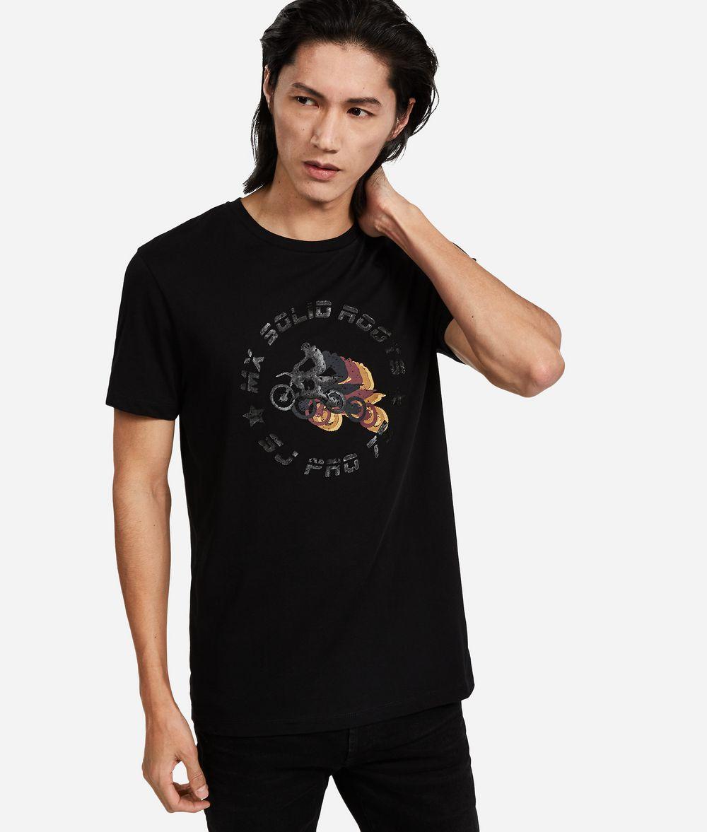 KARL LAGERFELD T-Shirt im Motocross-Look T-Shirt Herren f
