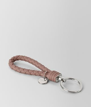 KEY RING IN DECO ROSE INTRECCIATO NAPPA