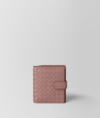 MINI WALLET IN DECO ROSE INTRECCIATO NAPPA