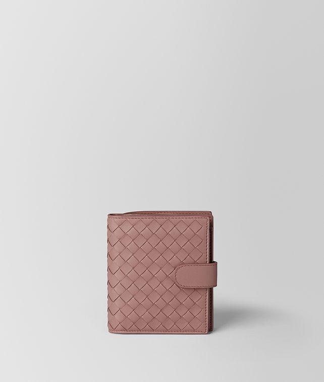 BOTTEGA VENETA DECO ROSE INTRECCIATO NAPPA MINI WALLET Mini Wallet Woman fp