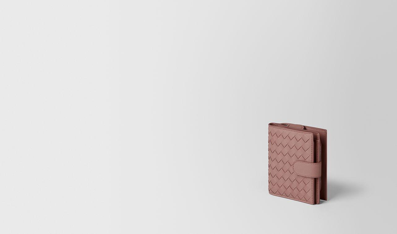deco rose intrecciato nappa mini wallet landing