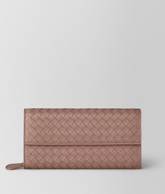 CONTINENTAL WALLET IN DECO ROSE INTRECCIATO NAPPA