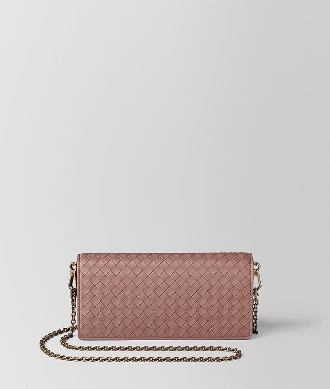 BOTTEGA VENETA DECO ROSE INTRECCIATO NAPPA CHAIN WALLET CHAIN WALLET [*** pickupInStoreShipping_info ***] fp