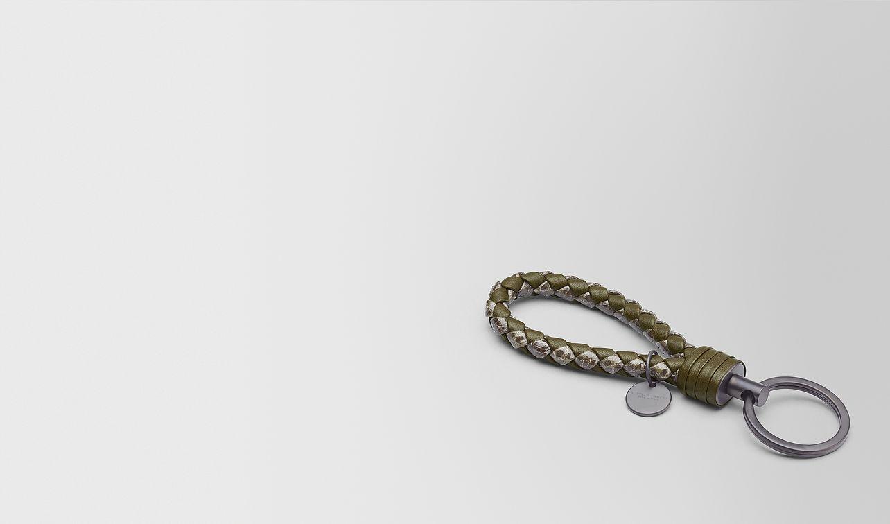 mustard intrecciato nappa/ayers key ring landing
