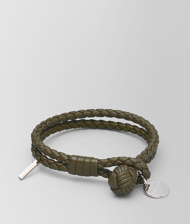 BOTTEGA VENETA MUSTARD INTRECCIATO NAPPA BRACELET Keyring or Bracelets E fp