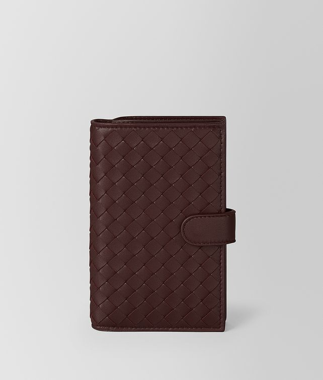 BOTTEGA VENETA DARK BAROLO INTRECCIATO NAPPA MINI WALLET Continental Wallet Woman fp
