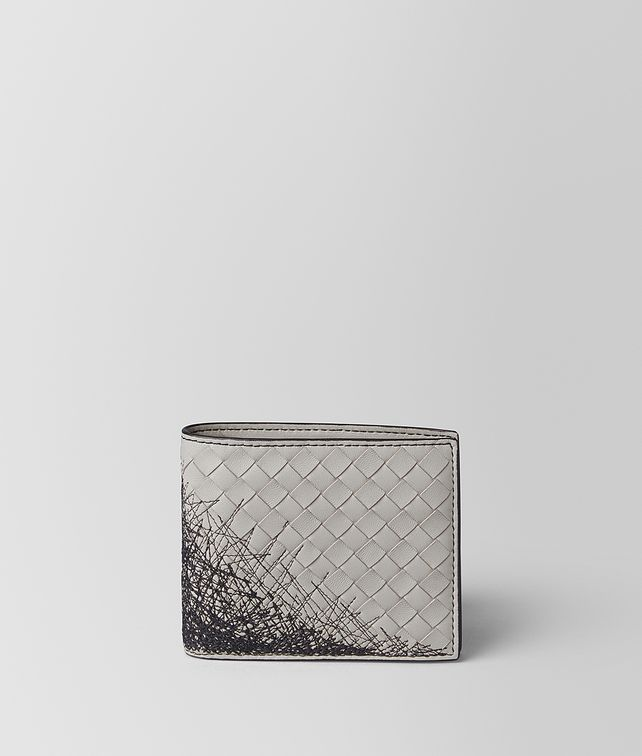 BOTTEGA VENETA CEMENT INTRECCIATO SCRIBBLE 18 WALLET Bi-fold Wallet [*** pickupInStoreShippingNotGuaranteed_info ***] fp