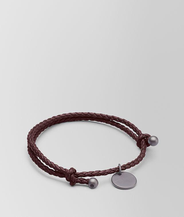 BOTTEGA VENETA DARK BAROLO INTRECCIATO NAPPA BRACELET Keyring or Bracelets E fp