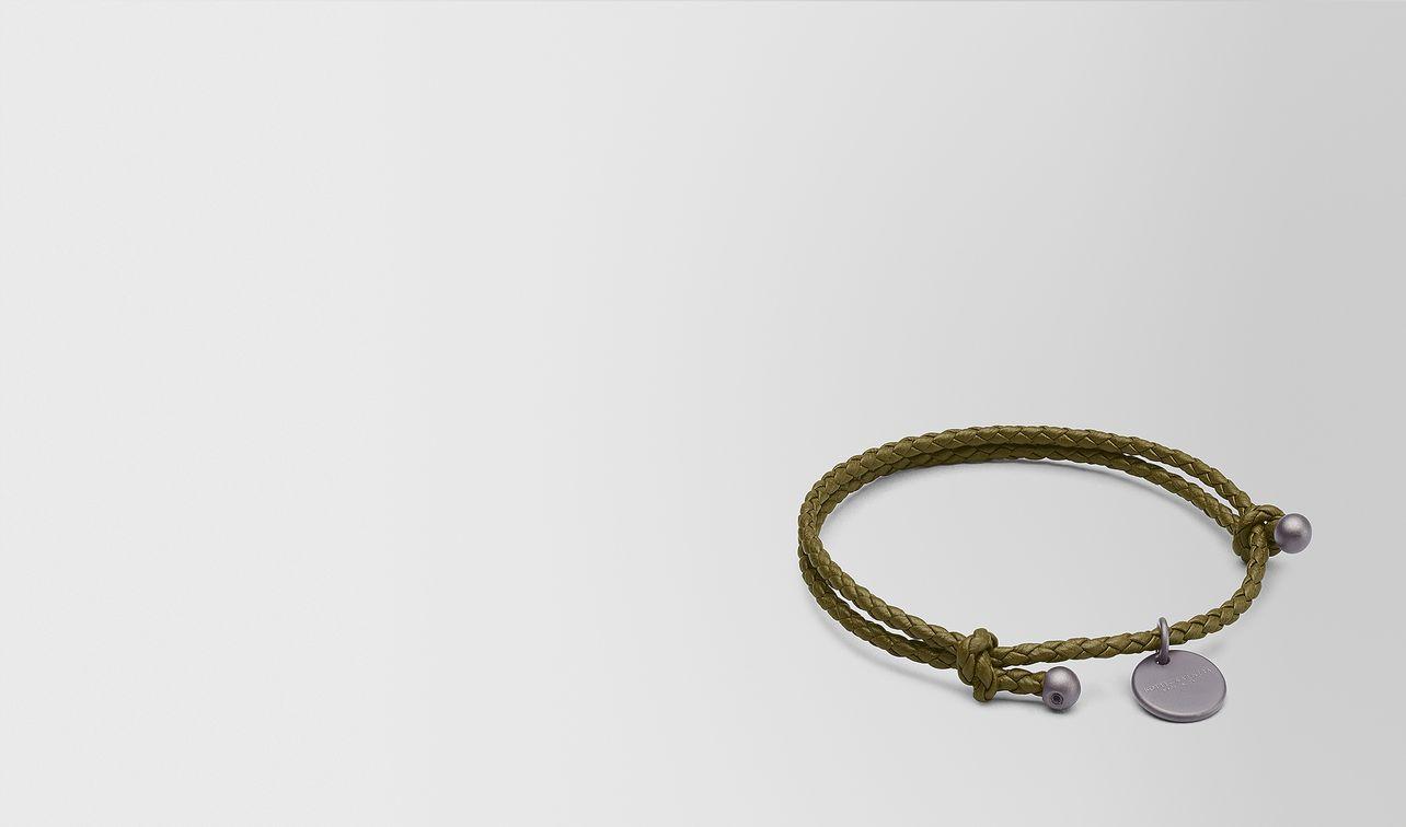 mustard intrecciato nappa bracelet landing