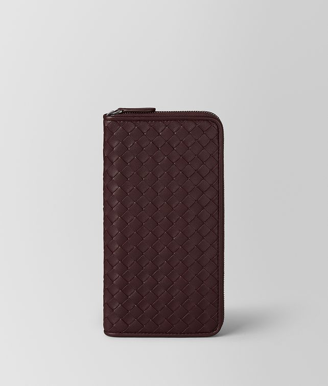 BOTTEGA VENETA DARK BAROLO INTRECCIATO NAPPA ZIP AROUND WALLET Zip Around Wallet [*** pickupInStoreShipping_info ***] fp