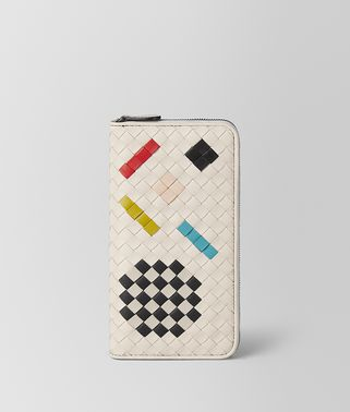 MIST INTRECCIATO ABSTRACT ZIP AROUND WALLET