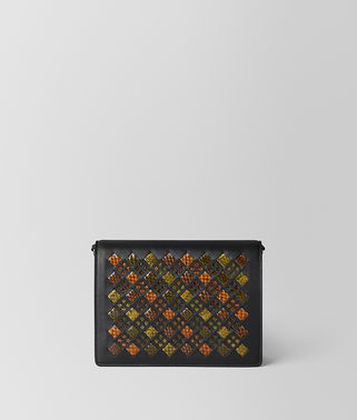 MULTICOLOR INTRECCIATO STAINED GLASS CHAIN WALLET