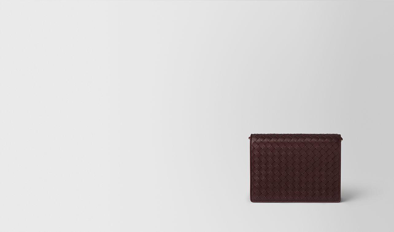 dark barolo intrecciato nappa chain wallet landing