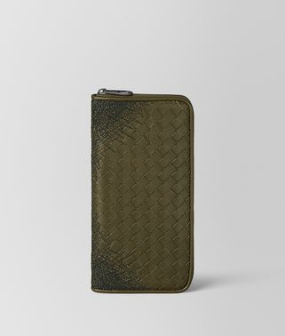 MUSTARD/NERO INTRECCIATO SCRIBBLE 18 ZIP AROUND WALLET