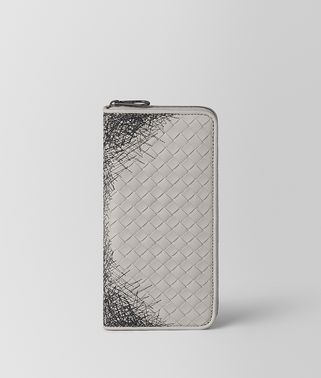 CEMENT INTRECCIATO SCRIBBLE 18 ZIP AROUND WALLET