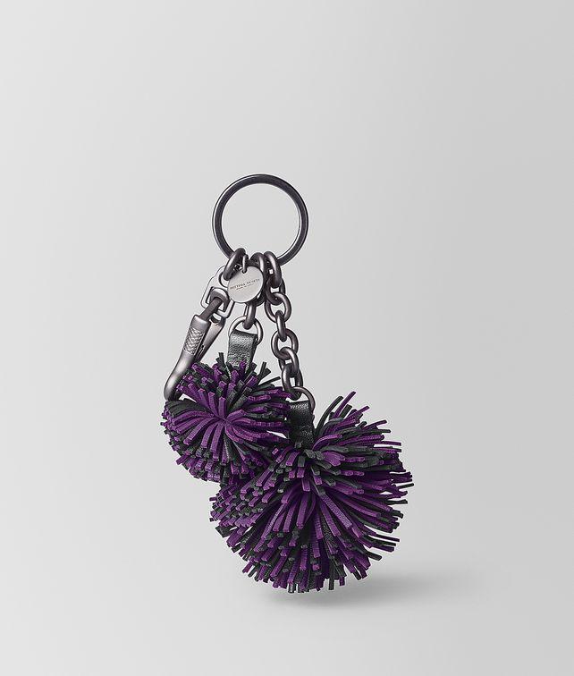 BOTTEGA VENETA MONALISA/NERO NAPPA POMPOM Keyring or Bracelets E fp