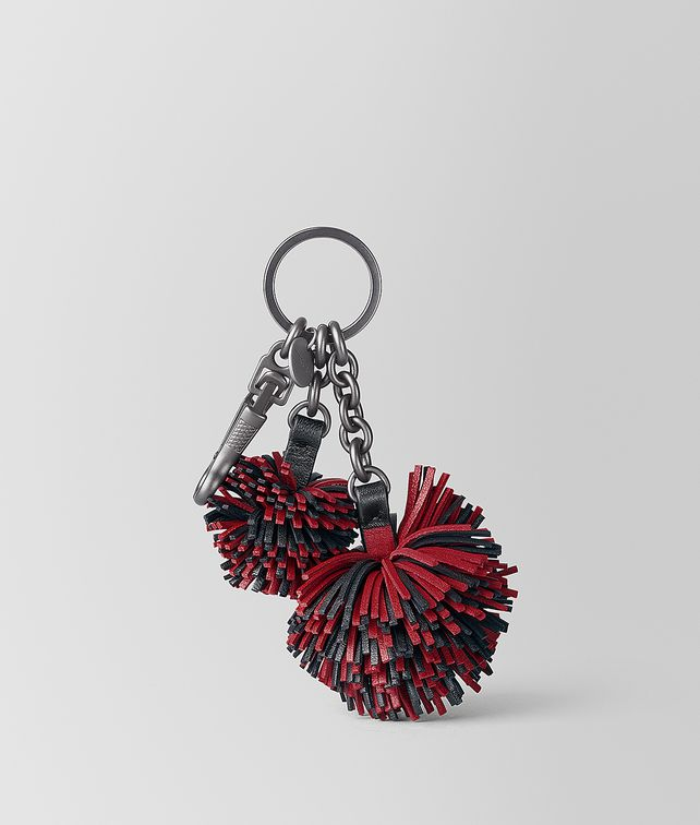 BOTTEGA VENETA CHINA RED NAPPA POM-POM Keyring or Bracelets E fp