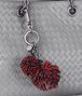 BOTTEGA VENETA CHINA RED NAPPA POM-POM Keyring or Bracelets E ap