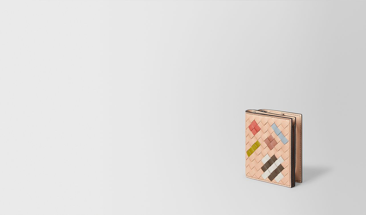 peach rose intrecciato abstract mini wallet landing