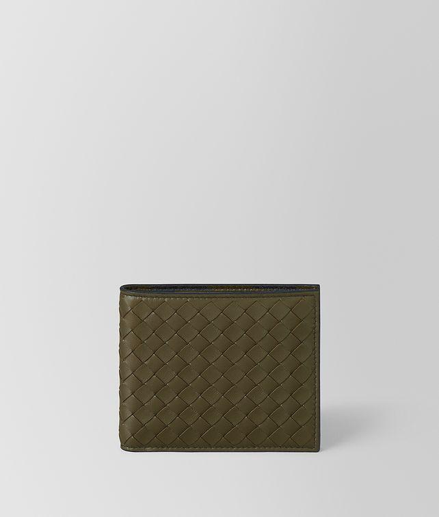 BOTTEGA VENETA MUSTARD/NERO INTRECCIATO NAPPA WALLET Bi-fold Wallet Man fp