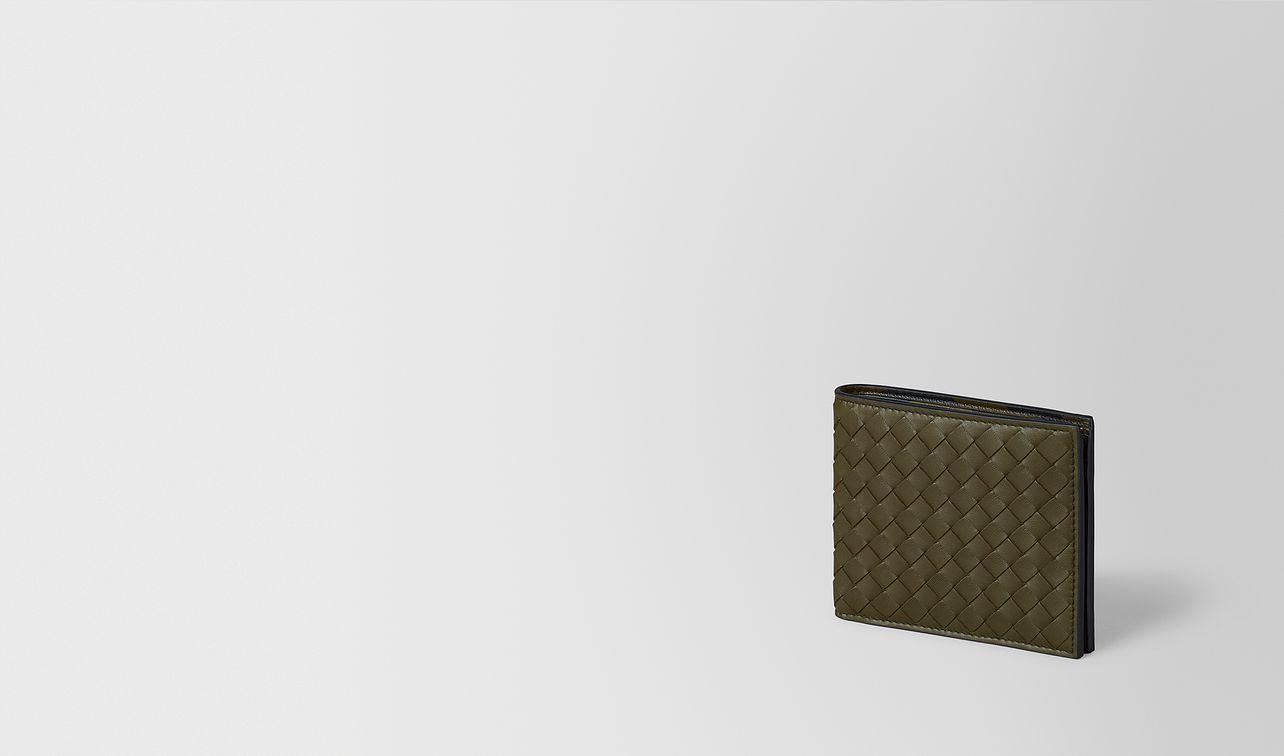 mustard/nero intrecciato nappa wallet landing