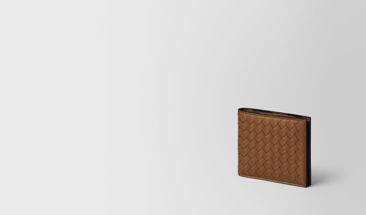 portemonnaie aus intrecciato nappa in leather/nero landing